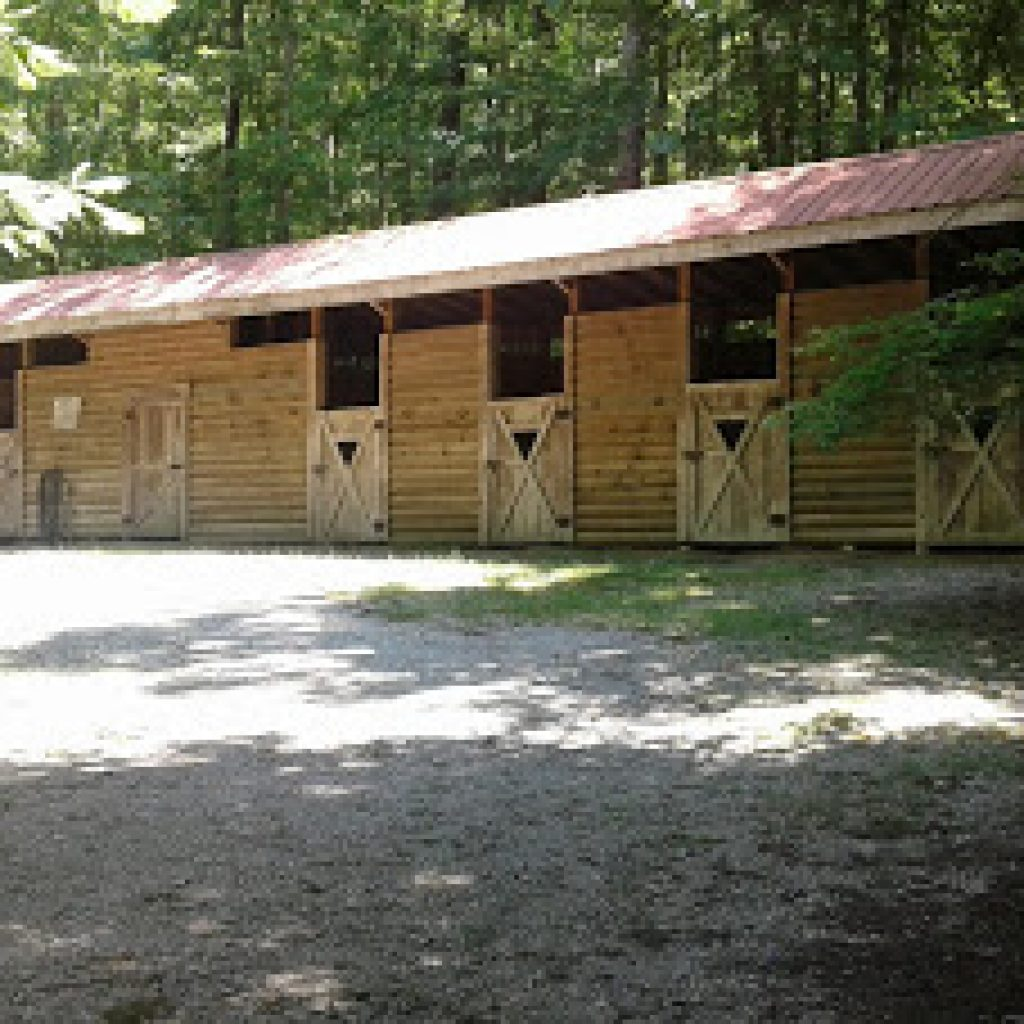 Stalls and tack room