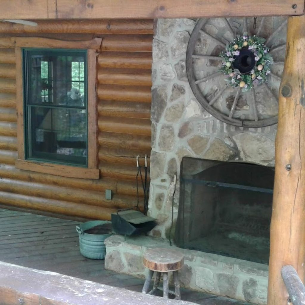 Outdoor fireplace—unique