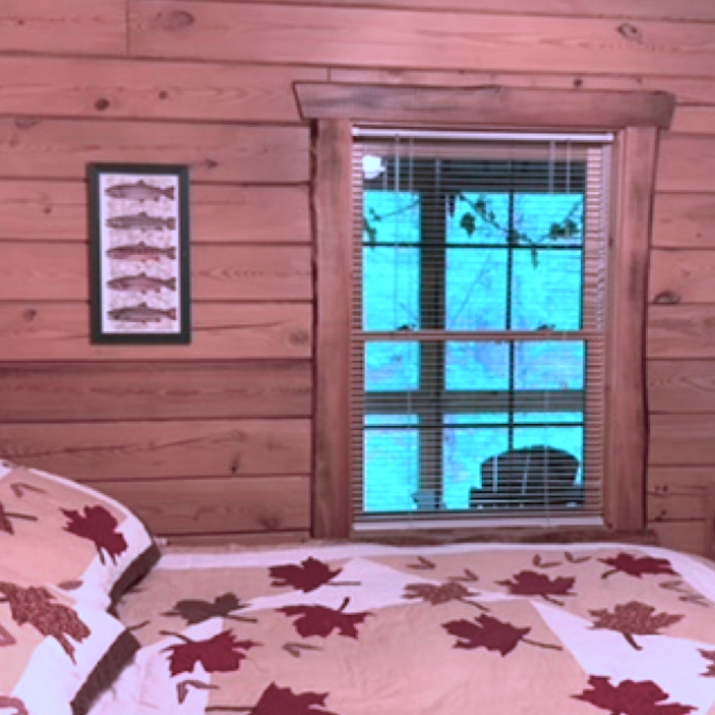 """""""Trout Room"""" view of porch"""