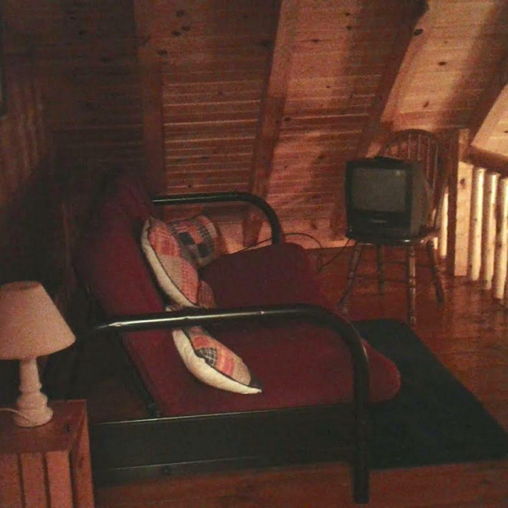 Open Loft futon and TV