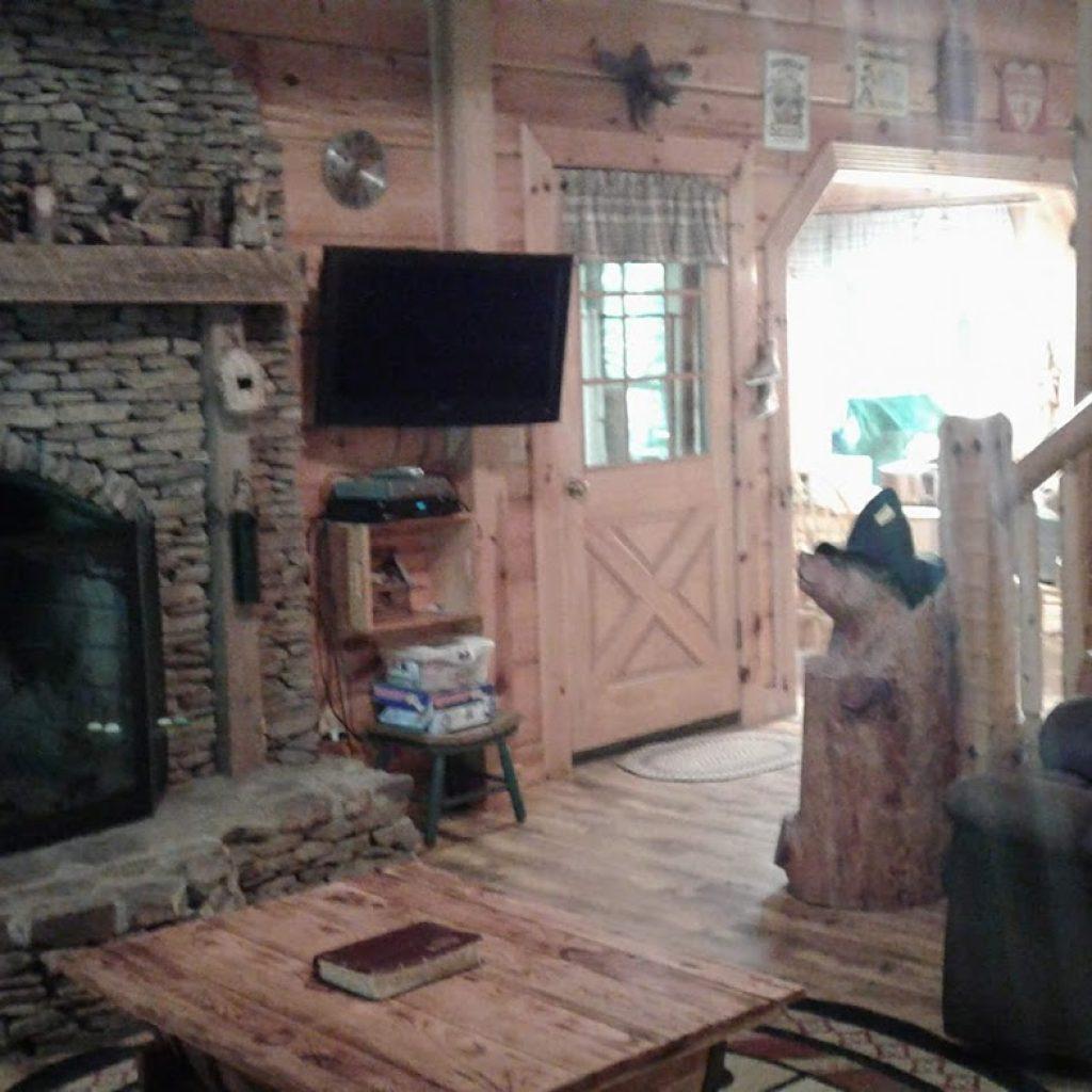 Flat screen TV in living