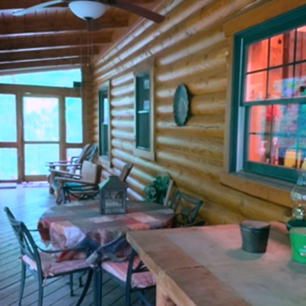 Eating screened Porch